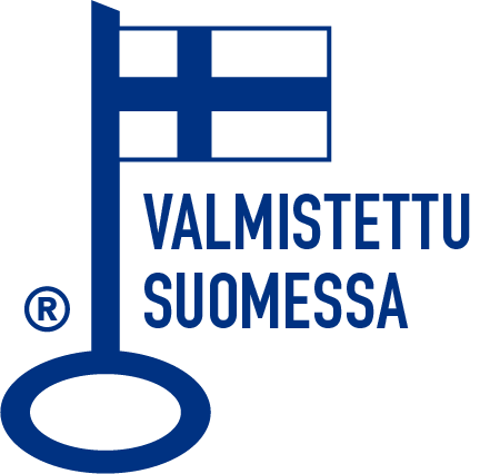 Avainlippu logo sinivalkoinen